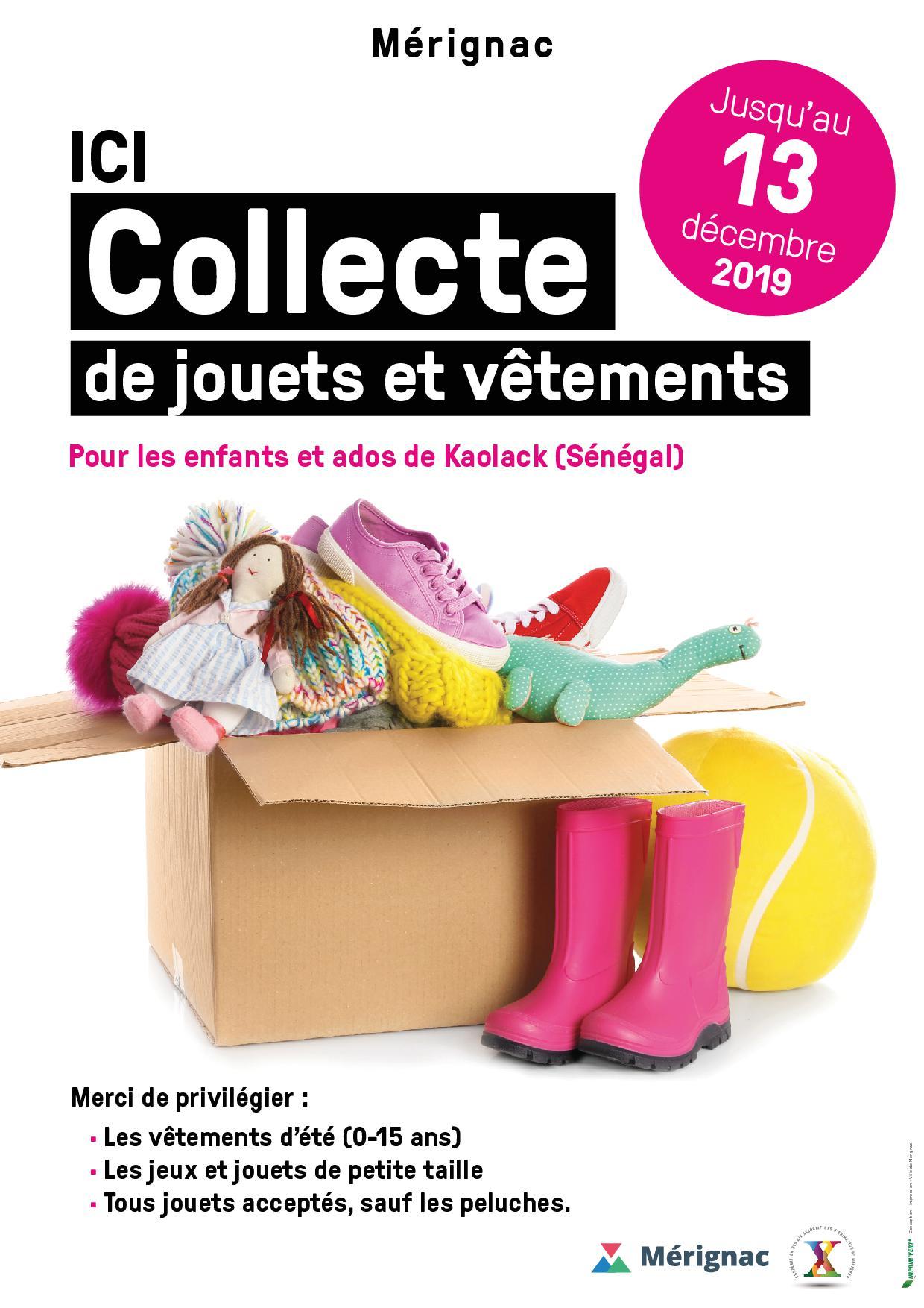 Collecte jouets / vêtements