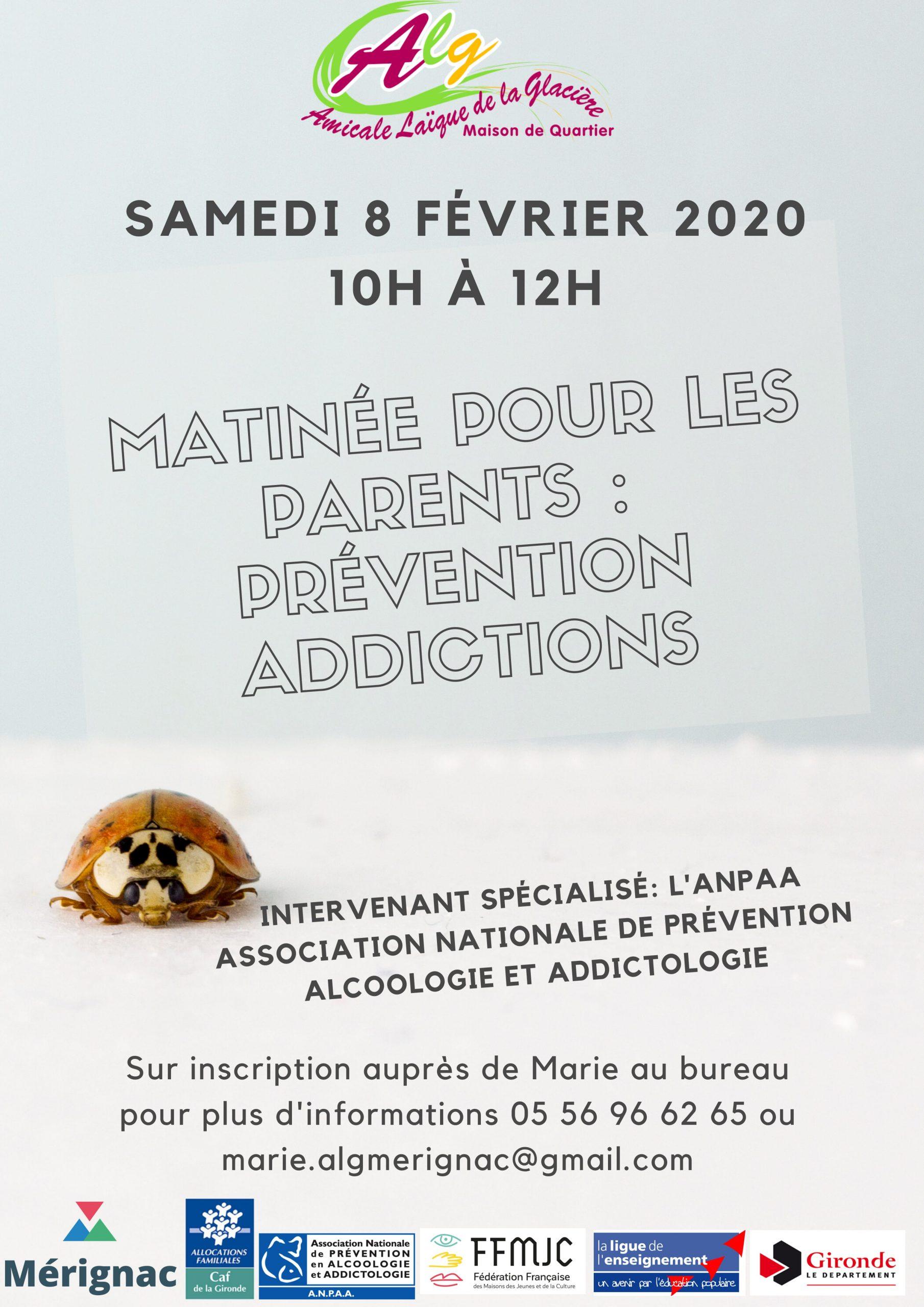 Matinée parents: Prévention Addictions 🗓